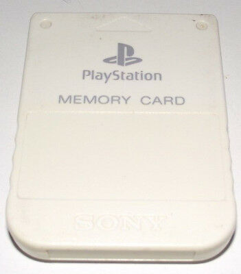 Genuine Sony Playstation 1 Memory Card 1MB White PS1 Preloved