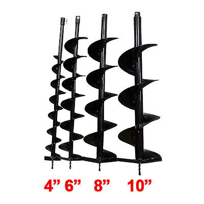 "Brand New 4"" 6"" 8"" 10"" 12"" Bits Drill for Earth Auger Post Hole Digger Machine"