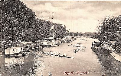 Postcard  Sport  Rowing  Oxford  Eights