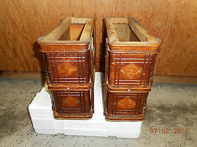 4 Singer SEWING MACHINE DRAWERS Treadle Cabinet Standard Display Wood CubbyHole