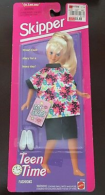 Skipper Barbie's Sister Teen Time Fashion Outfit Clothes Brand New Sealed Mattel