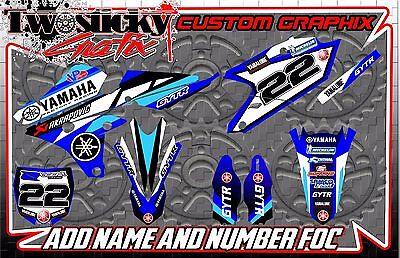 Yamaha Yz  Yzf 125/150/250/450  Motocross Mx Graphics Stickers 2016-2017