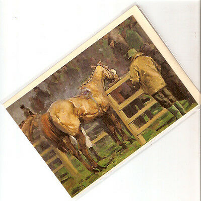 Horse Notecards Note Cards Unsaddling Enclosure by Malcolm Coward Pack of 5