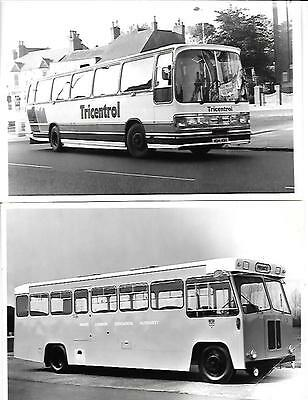 GROUP OF 5  BEDFORD BUS AND COACH 'SALES BROCHURE'related PRESS PHOTO