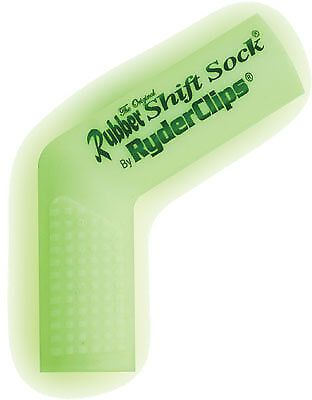 Ryder Clips RSS-GLOWHITE Rubber Shift Sock Glo-White 26-7200GW