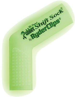 Ryder Clips RSS-GLOWHITE Rubber Shift Sock Glo-White