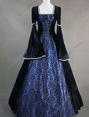 Renaissance Medieval Queen Game of Thrones Gown Fairytale Theater Dress N 129