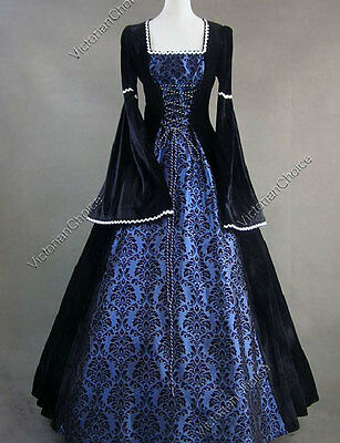 Renaissance Medieval Queen Game of Thrones Winter Theater Dress Clothing N 129