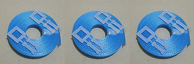 3x Kit BLUE: 15m/12mm strapping 150kg brake + 2x plastic buckle - Hand pallet