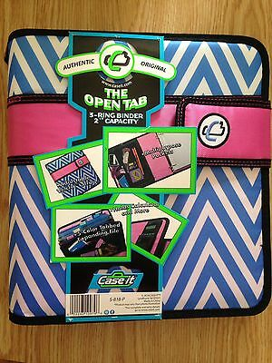 "Case It ""The Open Tab"" 3-Ring Binder 2"" Capacity S-818-P"