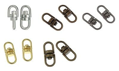 Double Eye Center SWIVEL CONNECTORS for Chain,Key Split Rings 16mmx7mm 5 Colors