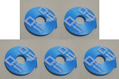 5x Kit BLUE: 15m/12mm strapping 150kg brake + 2x plastic buckle - Hand pallet