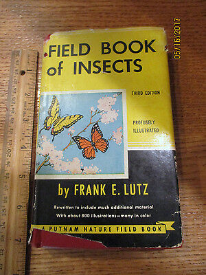 Vintage Field Book of Insects by Frank E. Lutz 1948 15th impression HB/DJ