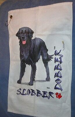 Flat Coated Retriever Slobber Dobber Towel Micro Fiber