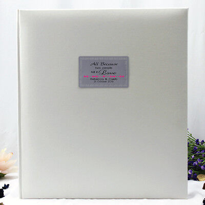 Personalised Wedding Photo Album - White - 500 - Add a Name & Message