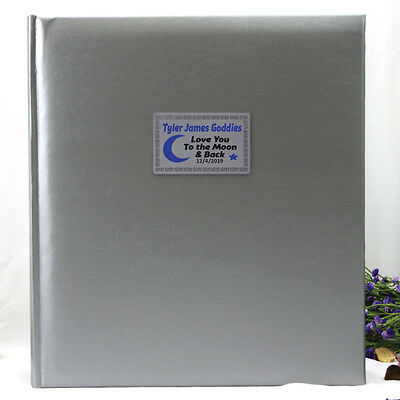Baby Silver Photo Album Gift - 500 Photo - Add a Name & Message