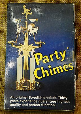 VINTAGE SWEDISH CHRISTMAS ANGEL CHIMES ROTARY CANDLE HOLDER Party Chimes