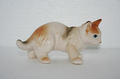 Vintage Art Pottery Hand Painted Standing On All Fours Kitty Cat Figurine