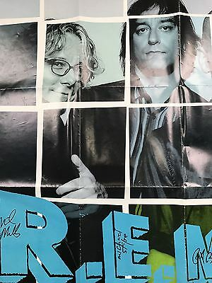 REM - 1998 Autographed UP poster Michael Stipe, Mike Mills & Peter Buck