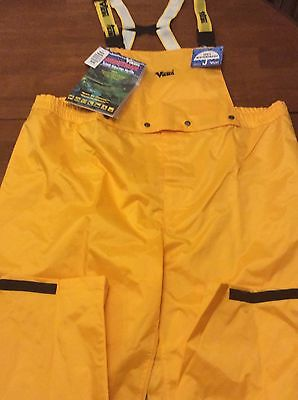 Viking Men's Journeyman 420d Nylon Pants with Detachable Bib Yellow XXXL