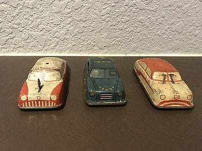 Vintage Argo Tin Toy Cars Made In Japan Antique