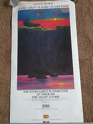 "Poster Print Wall Art TPC Tournament at Sawgrass, Ponte Vedra Beach 1988 17""x33"""
