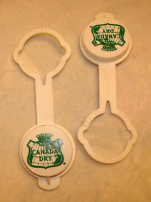 2 vintage bottle caps CANADA DRY plastic recapper unused new old stock mint cond