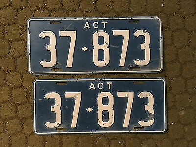 ACT Historic Number Plates