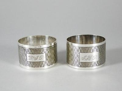 Pair Silver Plated Napkin Rings