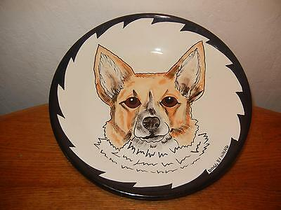 Dogs By Nina Pottery Art Bowl With Corgi, Nina Lyman Welsh Corgi Bowl, NICE!