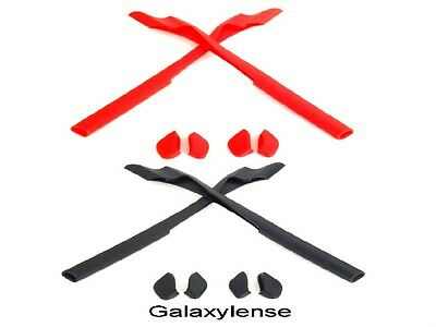 Galaxy Earsocks & Nose Pads For Oakley Half Jacket 2.0 / 2.0 XL Black/Red 2Pair