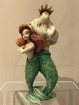 Disney Harmony Kingdom Figurine New Defiant Daughter Little Mermaid Ariel LTD