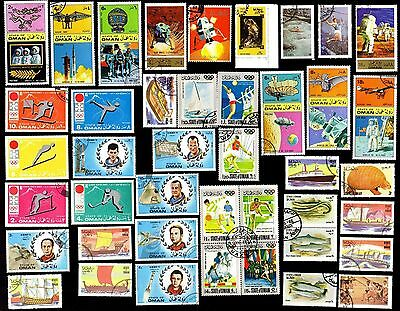 100 All Different  OMAN  STAMPS