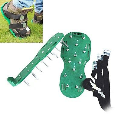 Lawn Aerator - Aerating Shoes / Sandals 30x13cm Spikes Per Shoe Ready Assembled