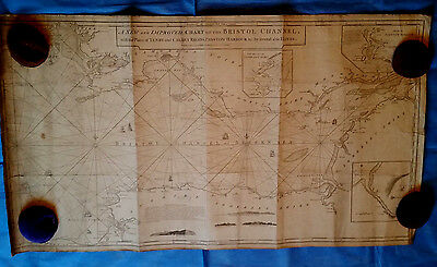 Bristol Channel chart, blueback - Laurie & Whittle, 1794