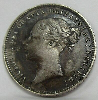 1873 Great Britain Silver Six Pence Nice Original Coin KM #751.1