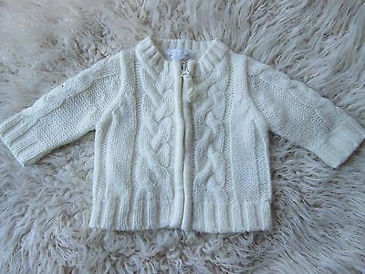 Pumpkin Patch Cable Knit Cream Jumper Zip Up Size 000