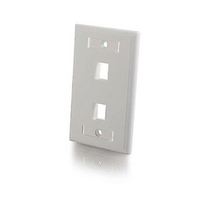 Cables To Go Premise Plus 2 port Keystone SG Wall Plate White ( 03411 )