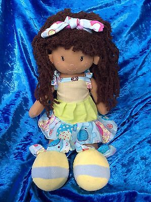 Girls Ragdolls Birthday Rag Doll Christmas Gift Free Flower Clip Girl 35cm