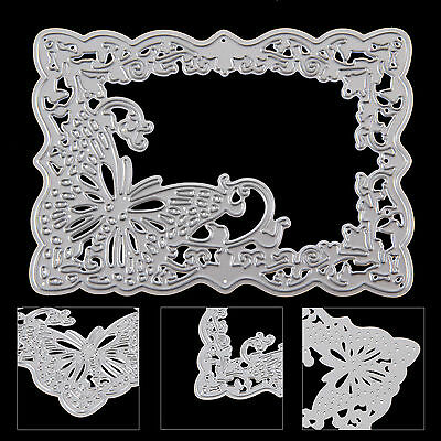 Metal Butterfly Frame Cutting Dies Stencil Scrapbooking Card Embossing Craft DIY