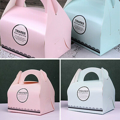 10pcs Paper Cupcake Candy Cake Boxes For Birthday Wedding Party Gifts Favor Case