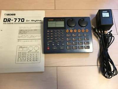 Used BOSS DR-770 Dr.Rhythm machine with Adapter Free tracking ship