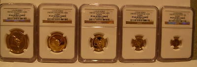 Singapore 1987 Full Proof Gold 1.9 oz Set NGC PF-66/69/68/68/69UC Rabbit