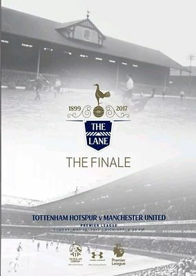 TOTTENHAM v MAN UTD 2016/17 LAST AT WHITE HART LANE 2017 SPURS MANCHESTER MINT