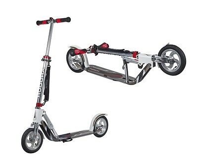 city scooter big wheel air alluminio 8 205 bianco/argento 205mm Hudora monopatti