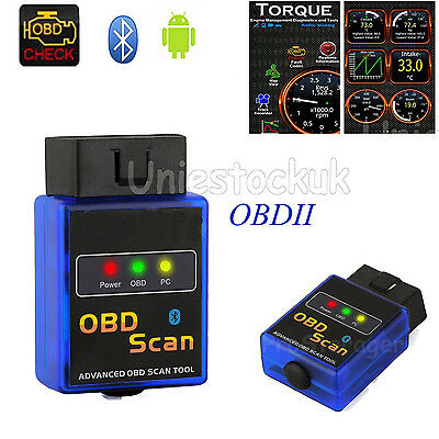 Mini OBDII ELM327 V2.1 Bluetooth OBD2 Scanner Car Torque Auto Scan Tool Android