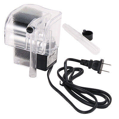 1* Top Fish Tank Aquarium Power Filter Waterfall Water Pump Hang On Slim Filter