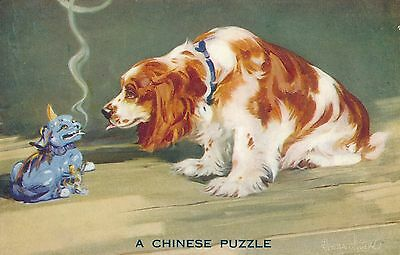 POSTCARD     DOGS    A  Chinese  Puzzle                 Tuck