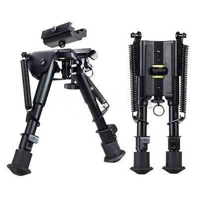 "Adjustable Stud Spring 6""-9"" Rifle Bipod Picatinny Rail Mount 20mm Sling Adapter"