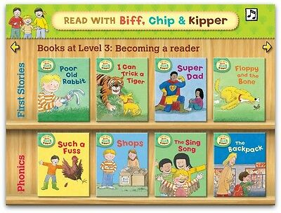 Read with Biff, Chip & Kipper, Level 3 (8 Books) Phonics & First Stories £39.92